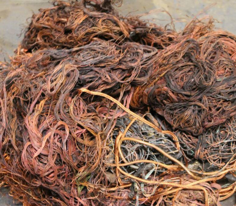 Обжиг медного или алюминиевого провода из отходов на сдачу в лом